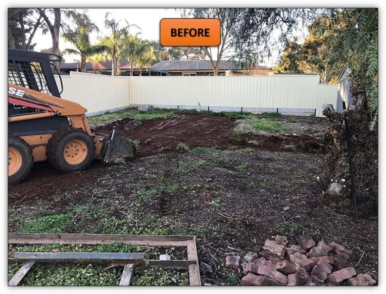 Backyard Leveling For Shed Pad - Bobcat Services Adelaide