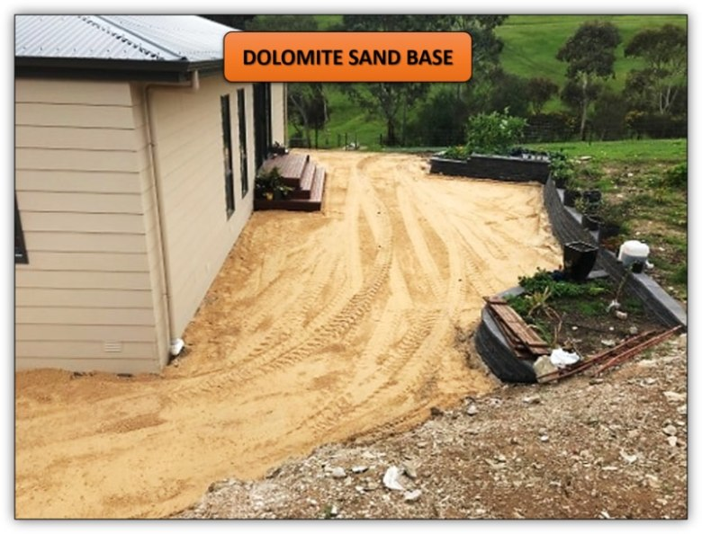 Concrete Preparation - Dolomite Sand