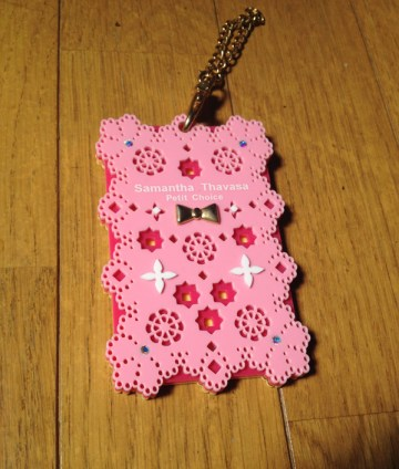 Pink IC card case from Samantha Thavasa