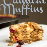 Peanut Butter Filled Oatmeal Muffins