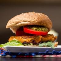 Sun-dried Tomato & Basil White Bean Burgers {vegan + gluten-free}