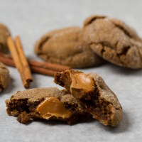 Drink & Dish: Caramel Stuffed Ginger Molasses Cookies