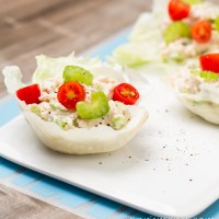 Healthy Tuna Salad: NO mayo, low carb, and super easy!