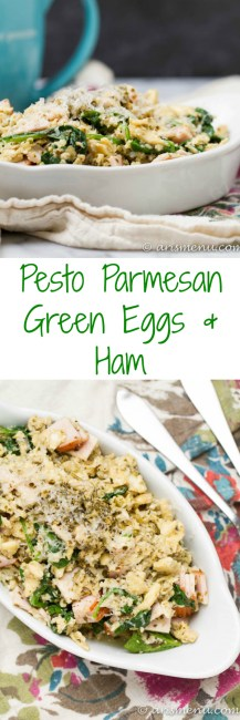 Parmesan Pesto Green Eggs & Ham: A healthy and flavorful breakfast, lunch or dinner