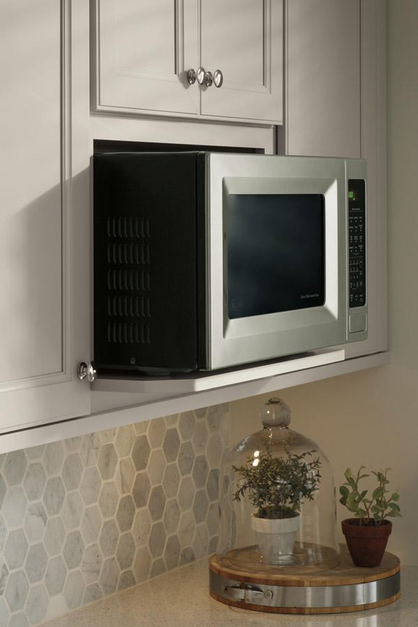 wall microwave open shelf cabinet