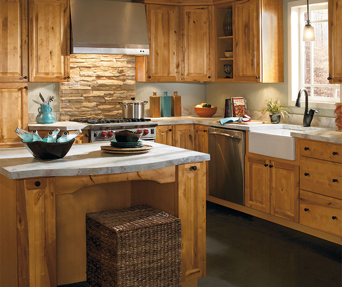 Rustic Kitchen Cabinets Aristokraft Cabinetry