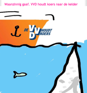 VVD koersvast naar de kelder