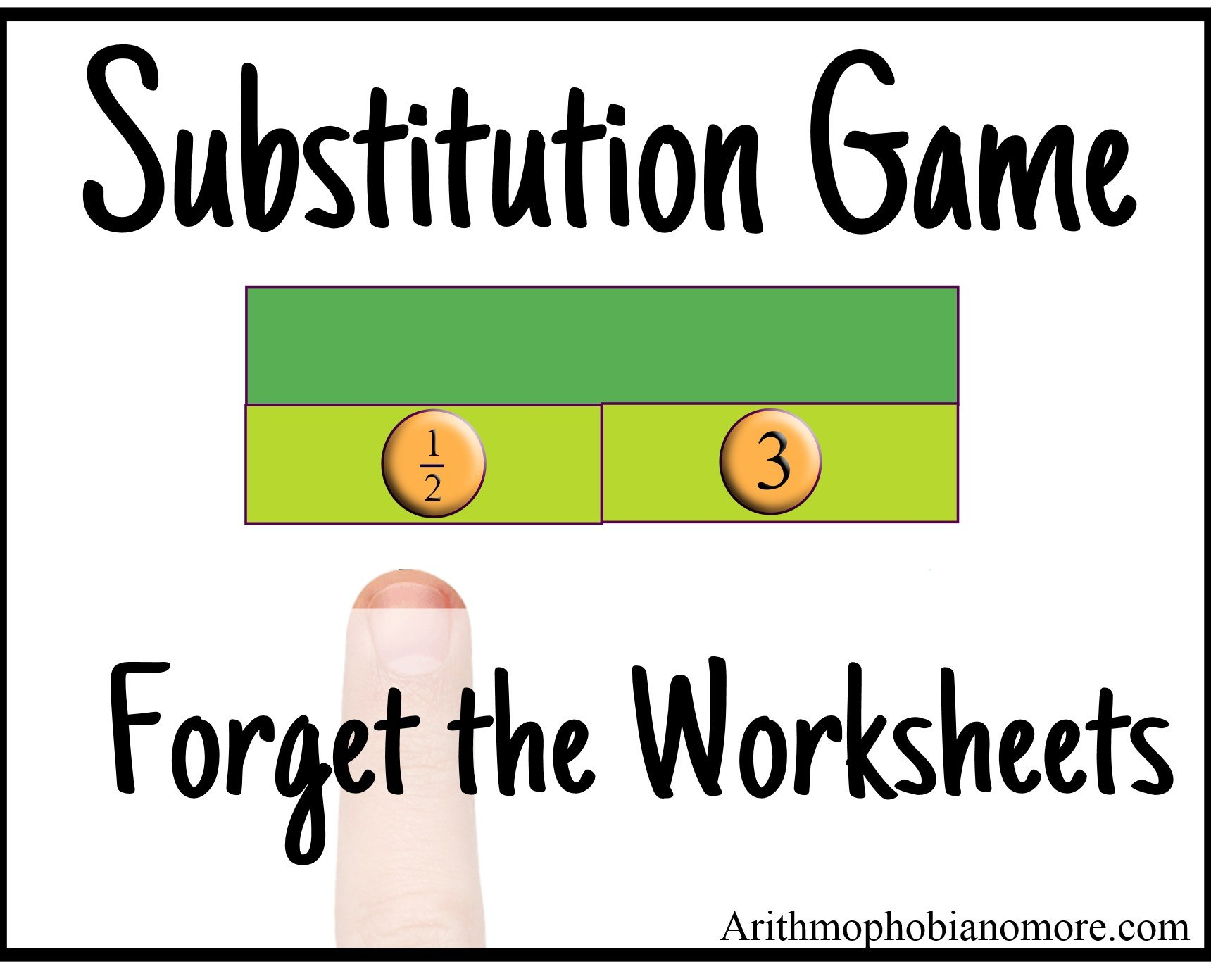 Substitution Game Forget The Worksheets
