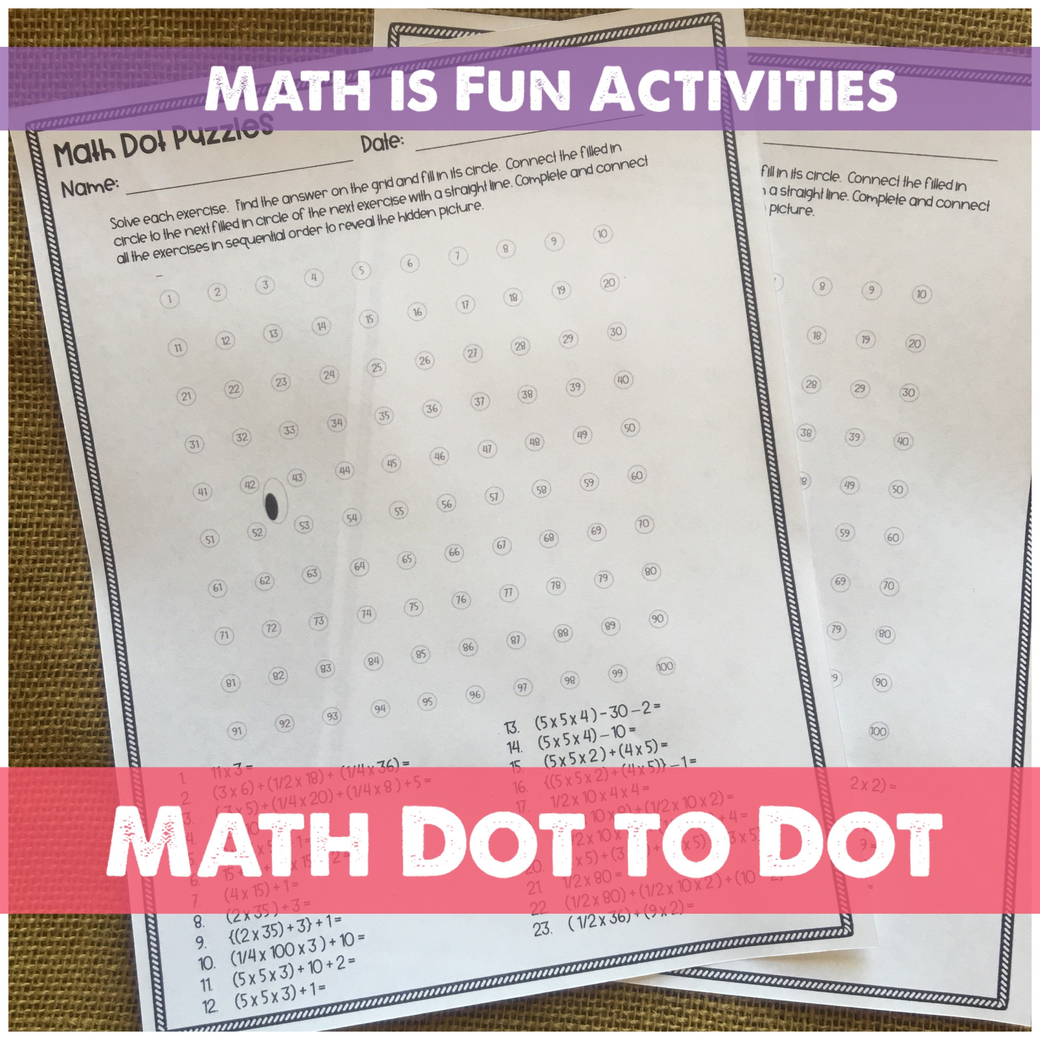 Practice math facts, but not with a boring worksheets. We've turned fact practice into Math Dot to Dots.