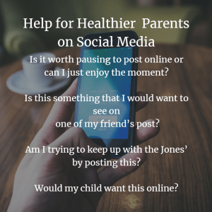 questions for helping to make better social media decisions as a parent