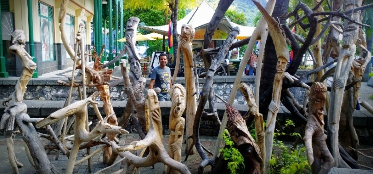Wood Sculpture: Tree People
