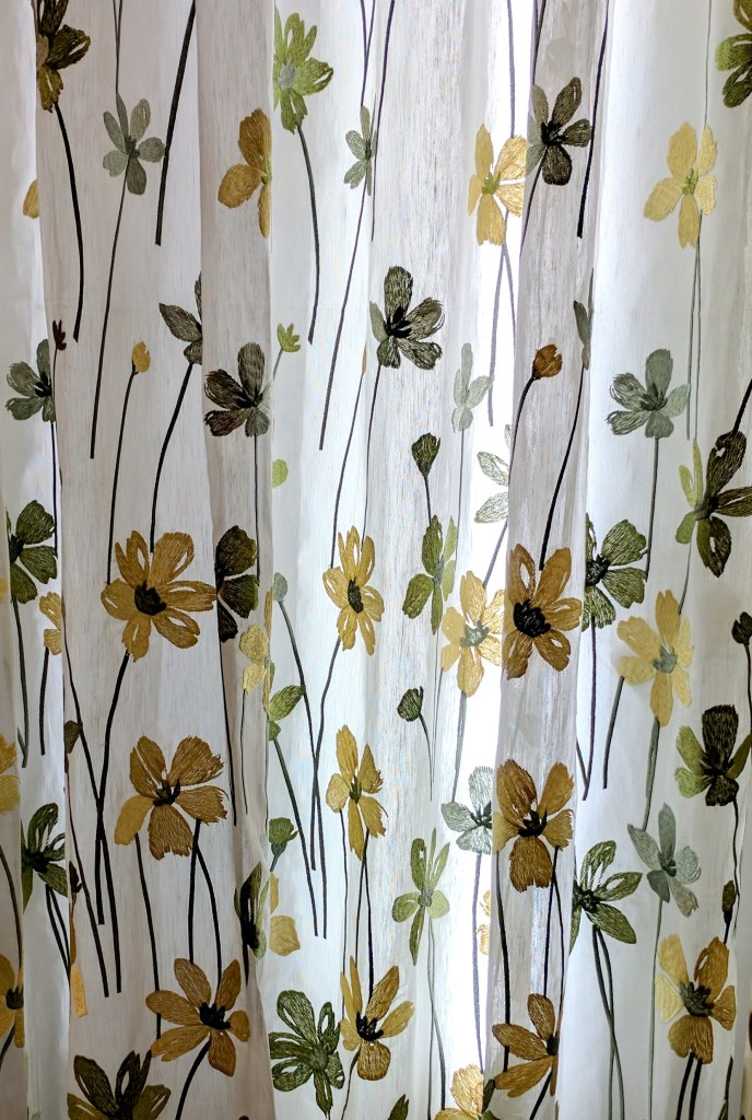 Fabric Selection - Green sheer