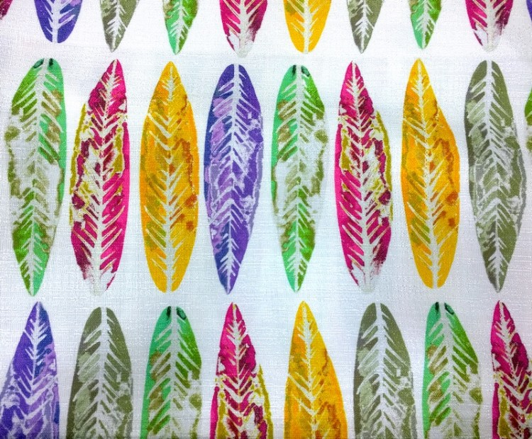 Fabric Selection - Multicolour leaf print
