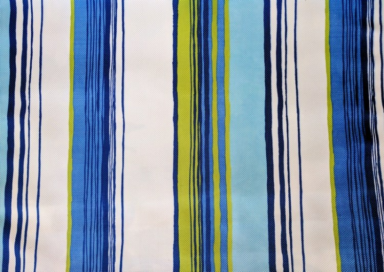 Fabric Selection - Blue and green stripe