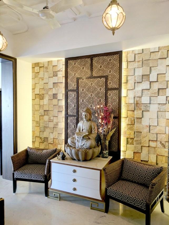 Oriental Foyer Design with Buddha - Foyer Reveal