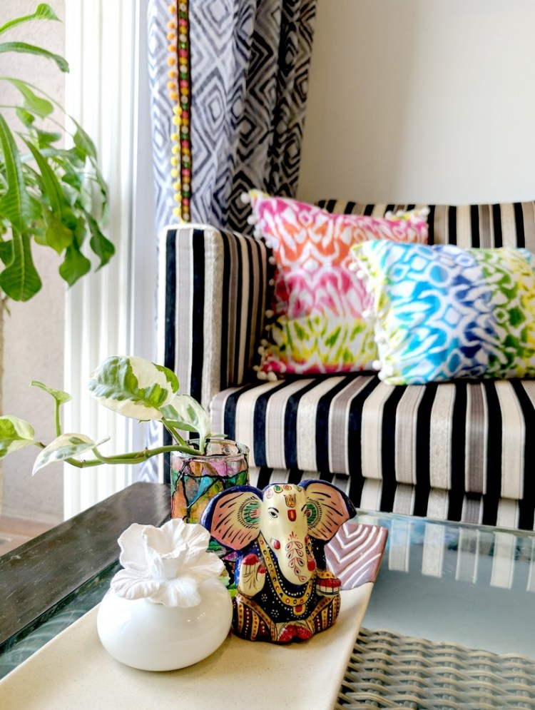 Home Office Design - Pop of colour