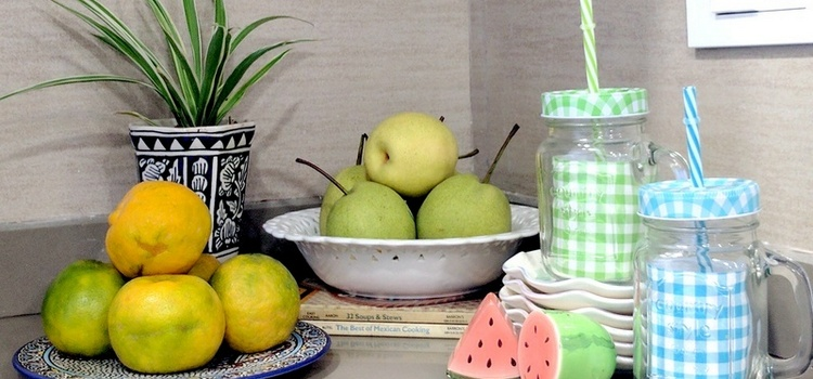 Use accessories to add colour to your kitchen