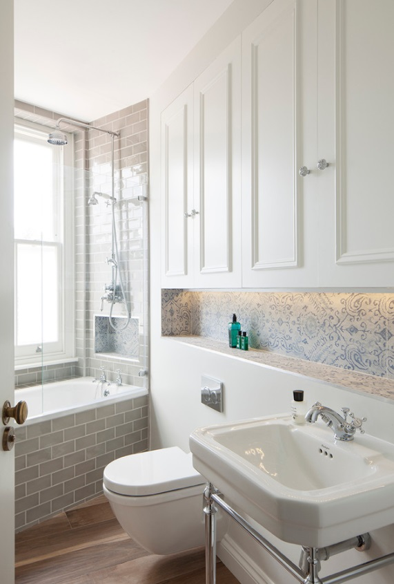 7 Ways to Make Big Space in Your Small Bathroom • One ... on Small Space Small Bathroom Ideas Uk id=14316