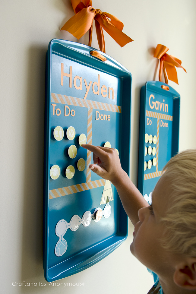 10 Cute Chore-Reward Ideas for Your Child's Room - Cookie tray chart