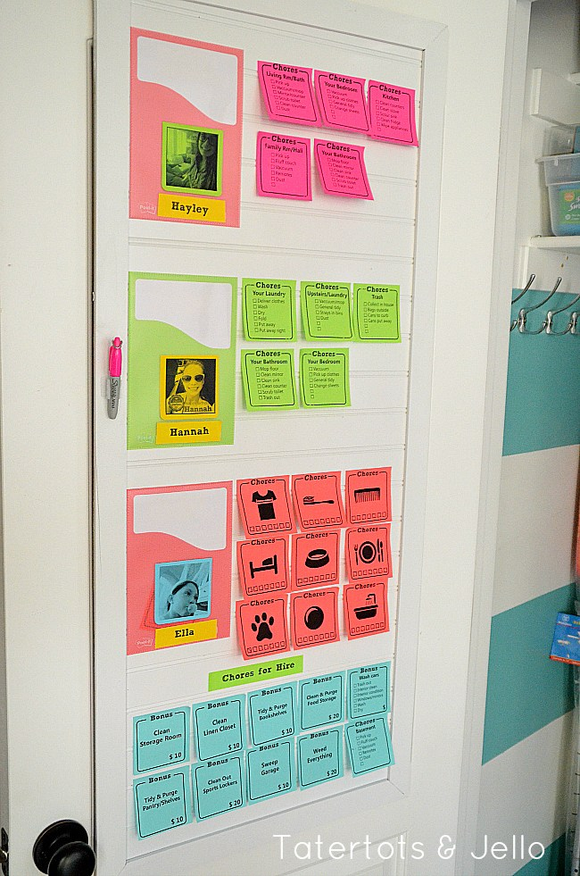 10 Cute Chore-Reward Ideas for Your Child's Room - Post It chart