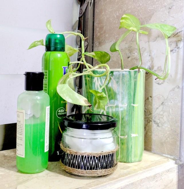 DIY Glass bottle decoration