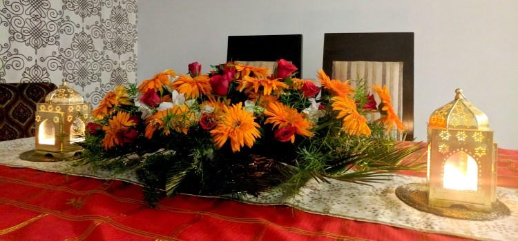 Decorating for Diwali Dinner