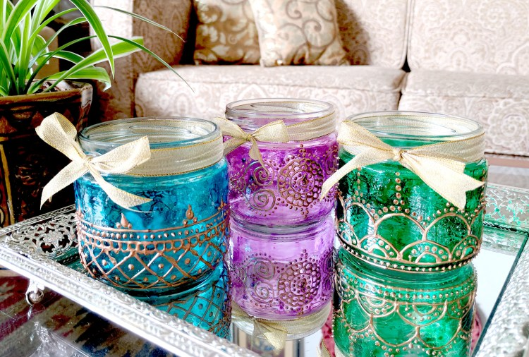 Diwali DIY - How To Paint Festive Glass Lanterns