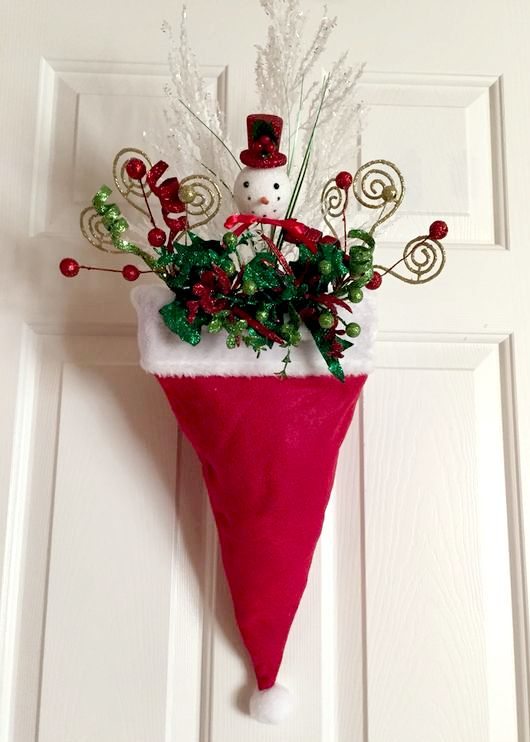 20 Cute and Easy Christmas Decor Ideas - Santa Caps