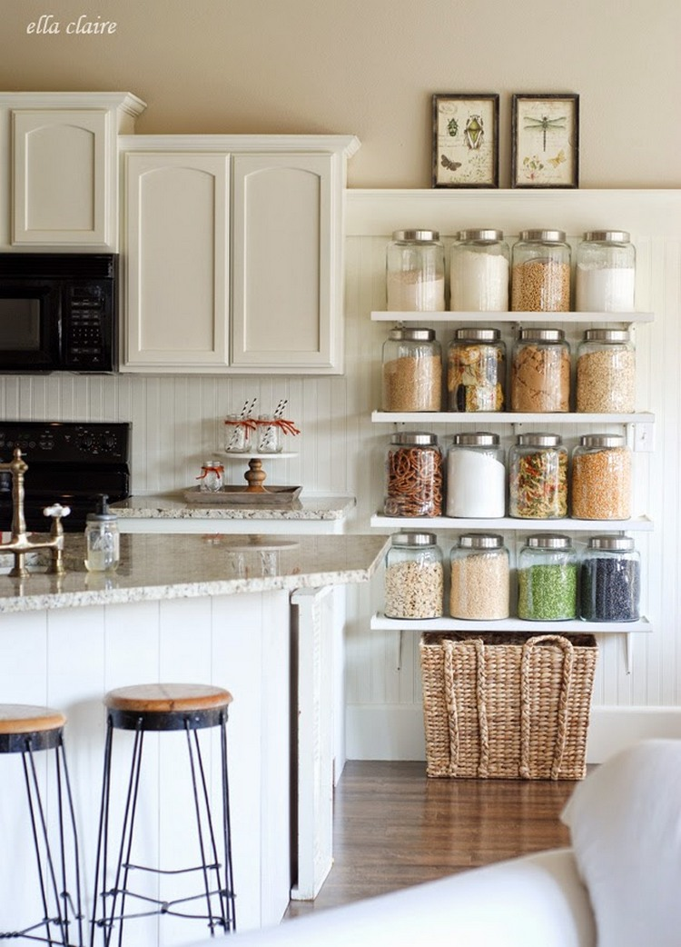 11 Ways To Make Big Space In Your Small Kitchen   Shelves On The Wall