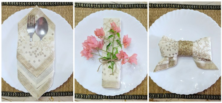 6 Easy Napkin Folding Ideas