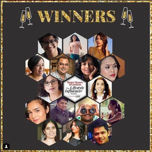 Winner - Better Homes & Gardens Lifestyle Influencer Awards