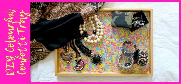 DIY Colourful Confetti Tray
