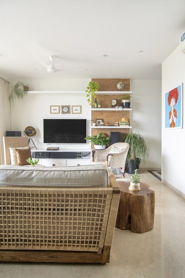 Modern Tropical Living Room Reveal • One Brick At A Time