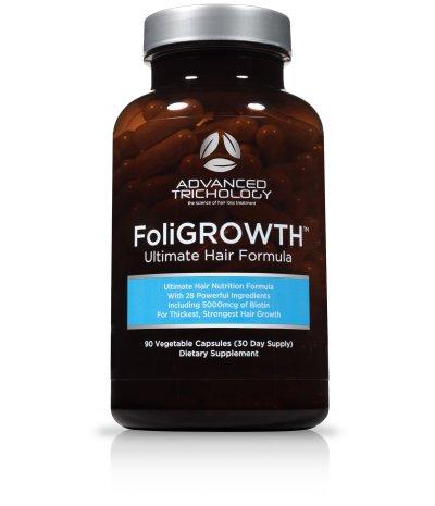 FoliGROWTH Ultimate Hair Growth Vitamin - High Potency Biotin, Folic Acid, 28 Herbs & Vitamins