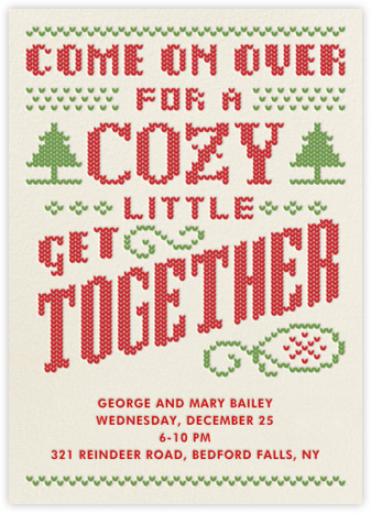 The Perfect Invite For Your Holiday Shindig