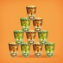 Tableau oriental verre a the-orange