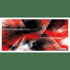 Poster oriental-abstrait rouge et noir