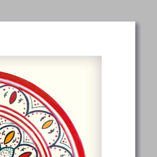 Poster oriental-assiette série