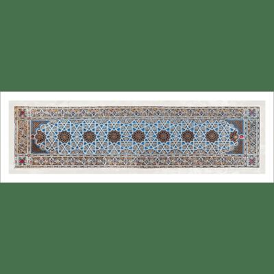 Poster oriental-ornement géométrique