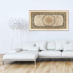 Poster oriental tapis beige