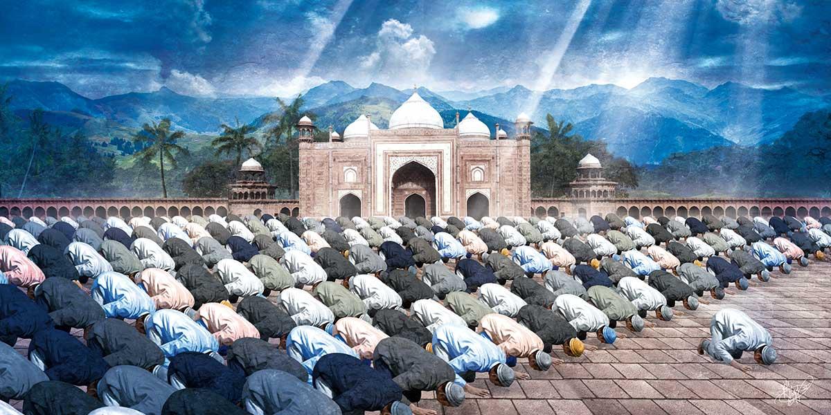 tableau islam musulmans priere