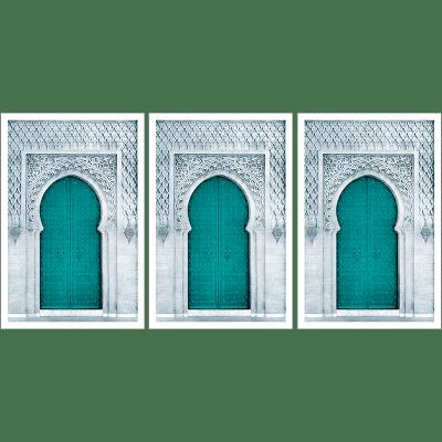 Poster arabe-porte triptyque-vert