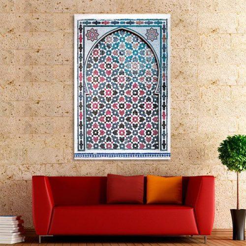 tableau-arabe-porte-mosaique