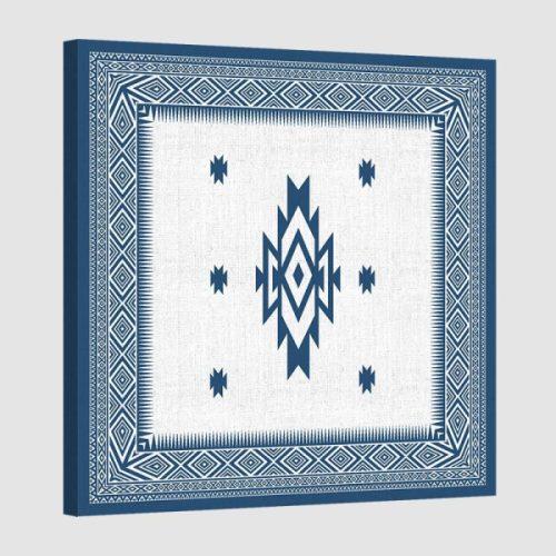 Tableau oriental-tapis berbere-bleu