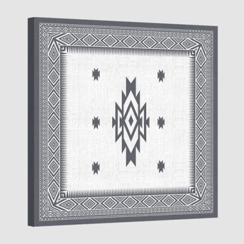 Tableau oriental-tapis berbere-gris