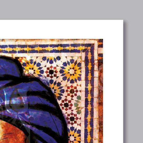 Poster arabe portrait bédouin-détail