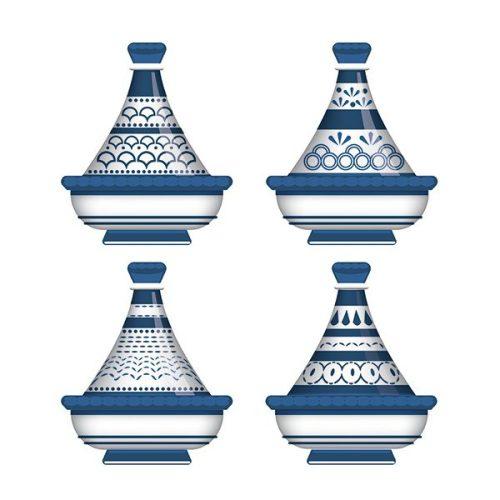 tableau arabe tajine déco-bleu