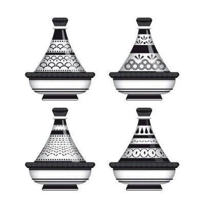 Tableau arabe tajine déco-noir