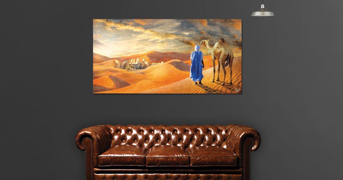 Tableau arabe désert