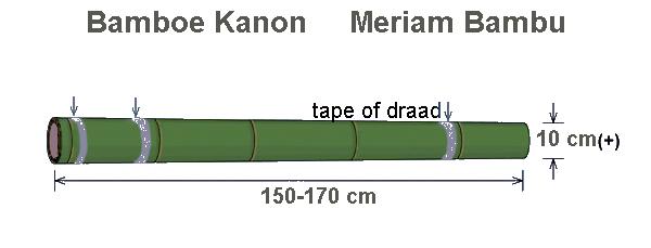 Bamboe Kanon Meriam Bambu Lantaka
